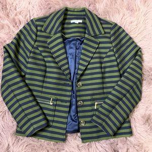 Isaac Mizrahi Live Striped Blazer